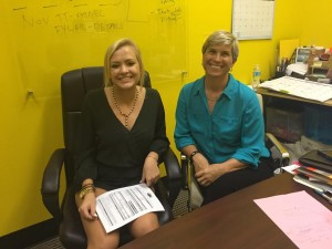Anne Cadman and Jennifer in the TechBirmingham office
